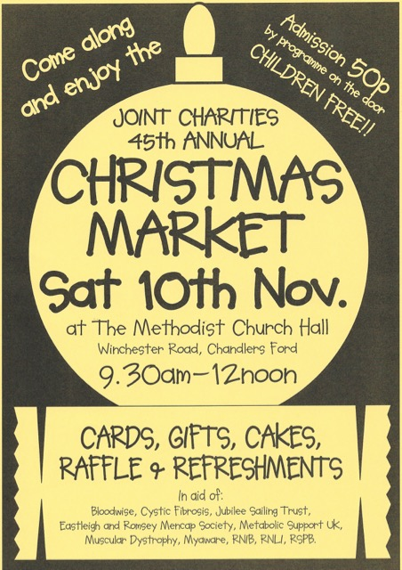 45th Joint Charities annual Christmas Market Chandler's Ford 10 Nov 2018
