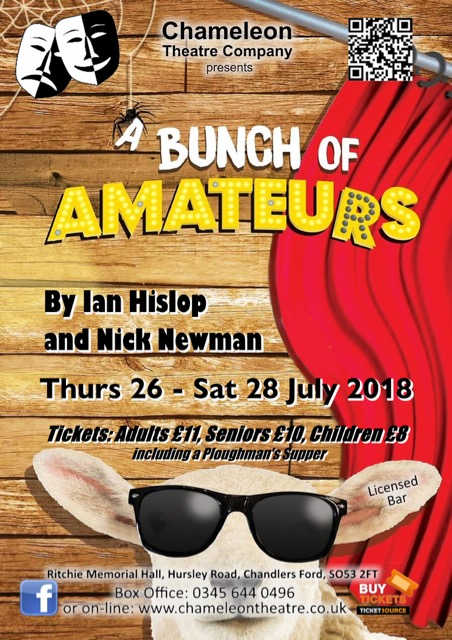 A Bunch of Amateurs: Thursday 26th - Saturday 28th July 2018