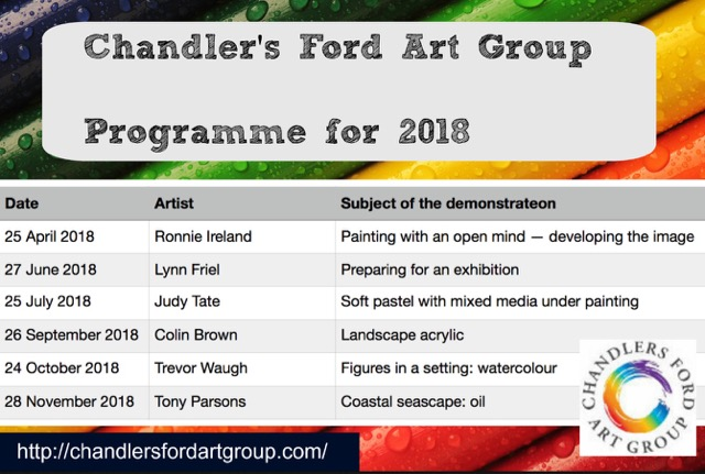 Chandler's Ford Art Group - Programme for 2018