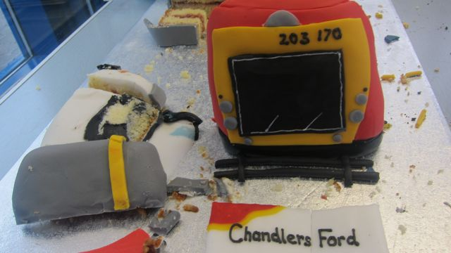 Chandler's Ford cakemade by a Southampton University student