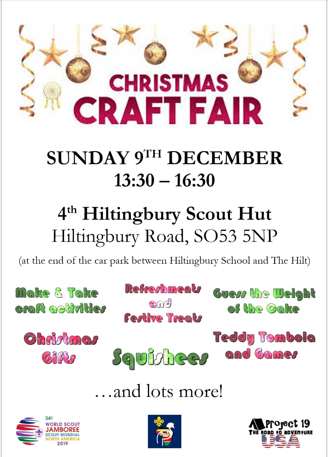 Christmas Craft Fair - Sunday 9th Dec