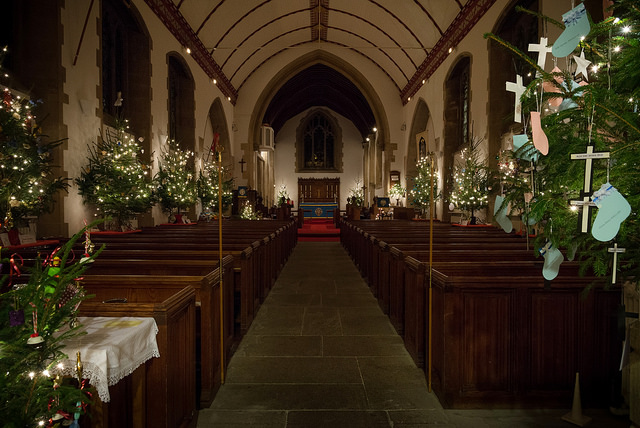 Christmas Tree Festival at St. Boniface Church Chandler's Ford. Image credit: Nigel Barker.