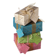 Traidcraft Eastern Flower Gift Wrap: Origami Dresses And Handbags