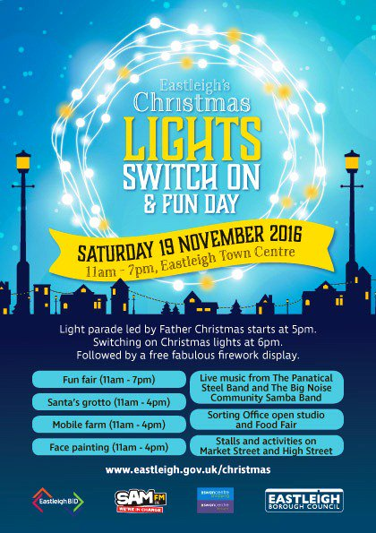 Eastleigh 2016 Christmas Lights switch on