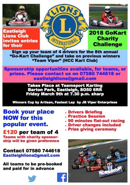 Eastleigh Lions GoKart Challenge 2018