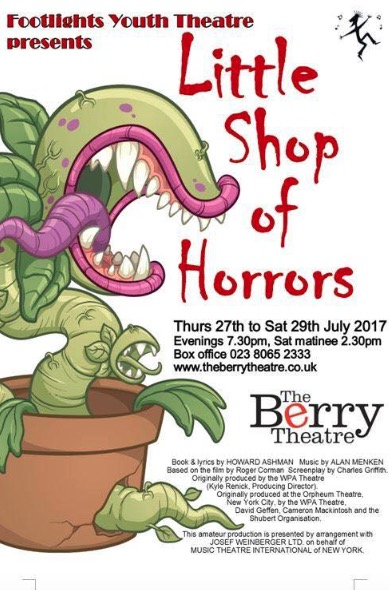 Little Shop of Horrow at the Berry Theatre in July 2017