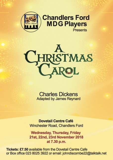 Chandler's Ford MDG Players - A Christmas Carol, 2018