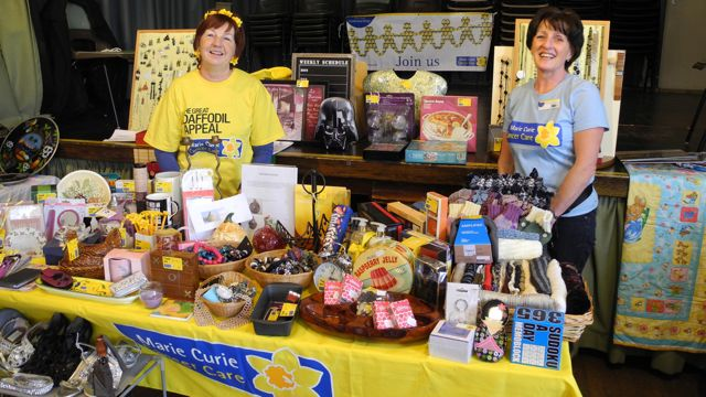 Eastleigh and Chandler's Ford Fundraising group for Marie Curie Cancer Care had a successful and fun morning at a Table Top Sale at Chilworth Hall, Chilworth on Sun 23rd March.