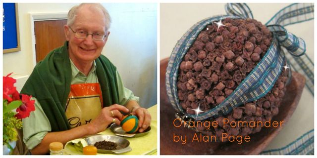 Alan Page teaches you how to arrange flowers and make the perfect Orange Pomander.