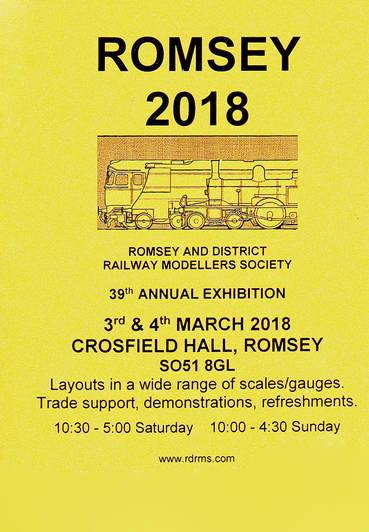 Romsey and District Railway Modellers Society: 39th annual exhibition