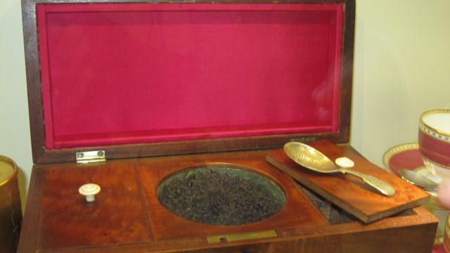 18th Century tea chest at at Tea Museum (Ahmad Tea)