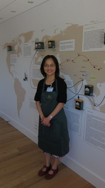 Janet at Ahmad Tea - The Tea Museum