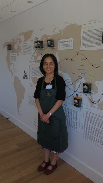 Janet at Ahmad Tea - The Tea Museum