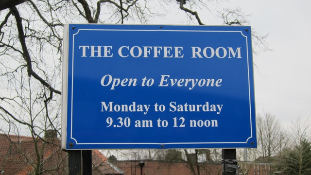 The Coffee Room in the Dovetail Centre of the Methodist Church is open to everyone.