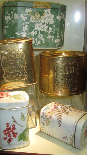 Two lever lid tins at Tea Museum (Ahmad Tea)
