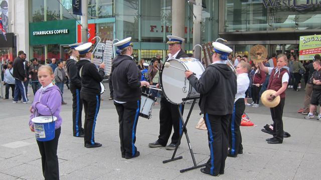 Dolphin Marching Band, outside West Quay
