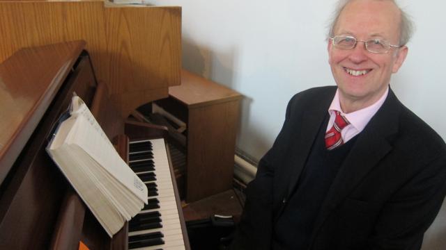 Dr. Hugh Benham at St. Boniface church