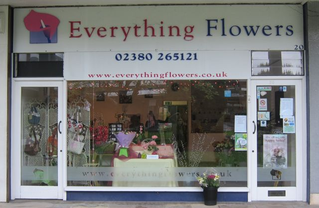 Everything Flowers shop front (new name: Love Flowers).