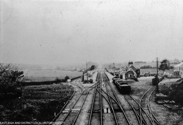 Chandler's Ford Railway Station 1908. image credit: Eastleigh and District Local History Society