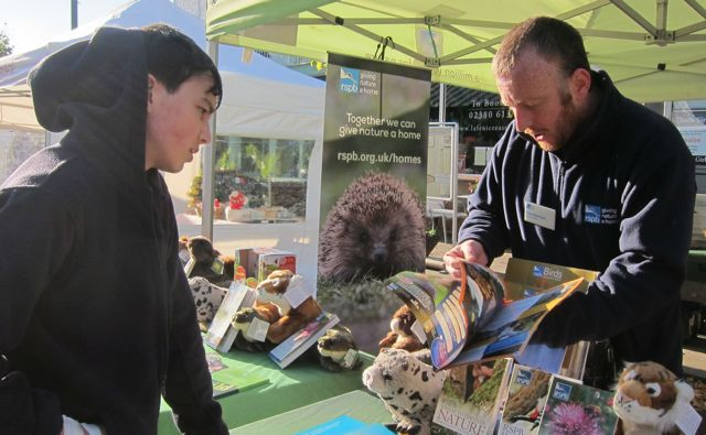 The RSPB volunteer explained what they do.