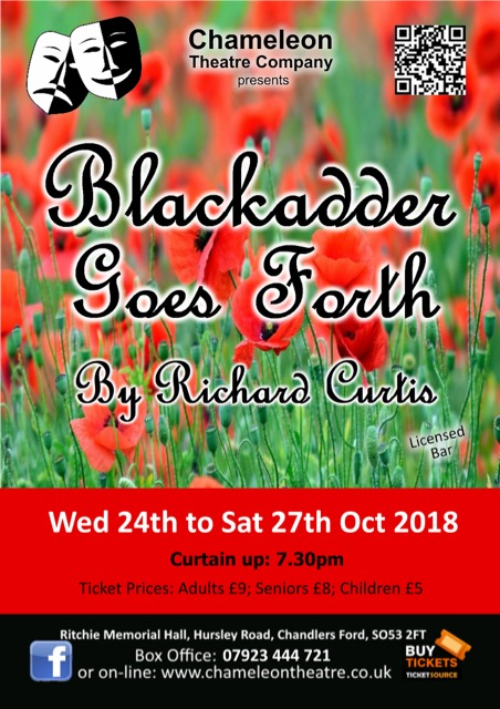 Chameleon Theatre: Blackadder Goes Forth
