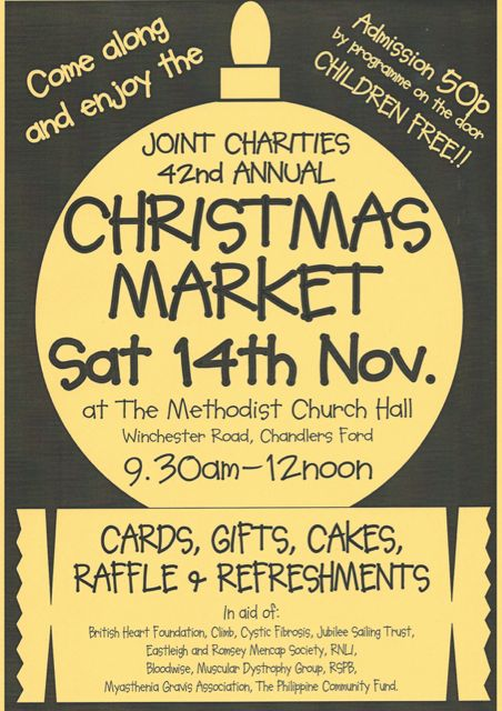 42nd Joint Charities Christmas Market Chandler's Ford