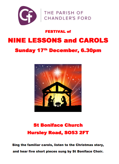 The Nine Lessons and carols 2017 at St Boniface church.