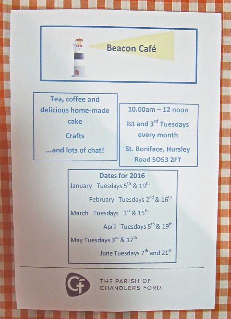 Beacon Café dates for 2016.