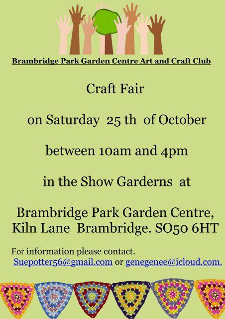 Brambridge Park craft fair: 25th October 10am - 4pm