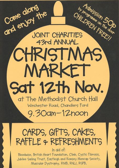 Chandler's Ford 43rd annual Christmas Market Saturday 12th November 2016