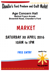 Chandler's Ford Produce and Craft Market Sat 30 April 2016