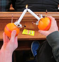 Christingle service at St. Boniface church 2013.