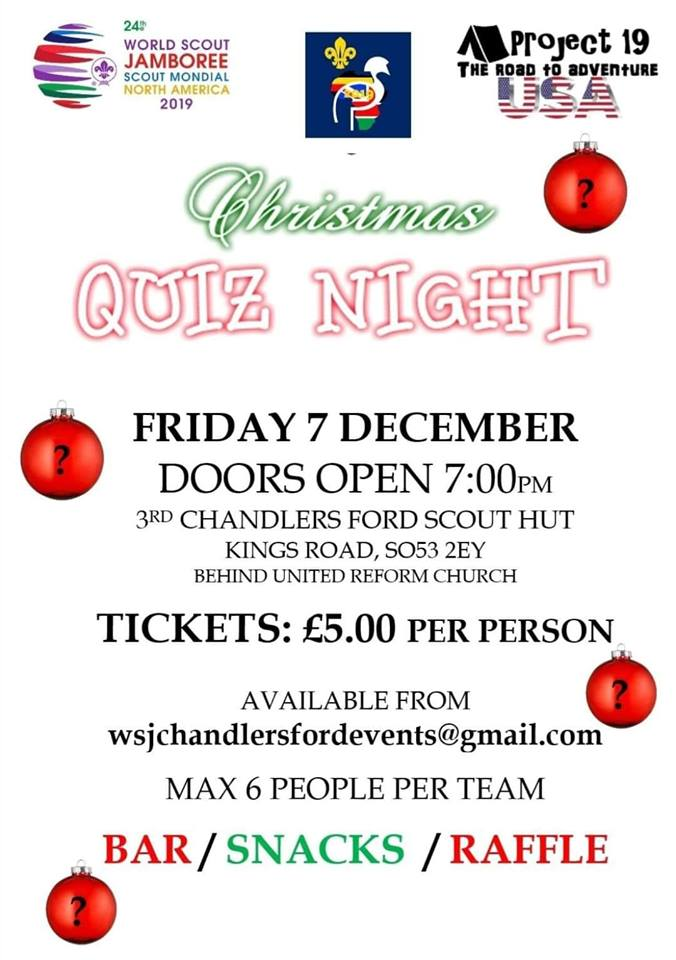 Christmas Quiz Night Friday 7th December