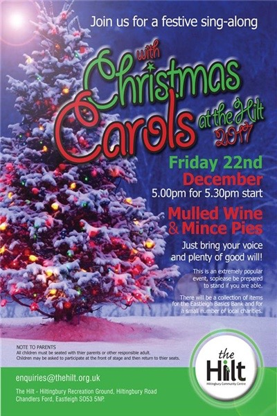 At The Hilt: Friday 22nd December 2017 supporting local charities this Christmas