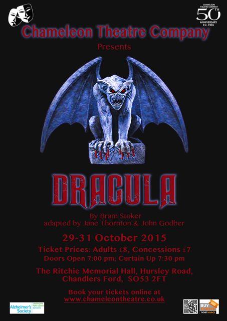 Dracula poster Chameleon Thetre Company
