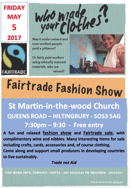 Fairtrade Fashion Show May 2017