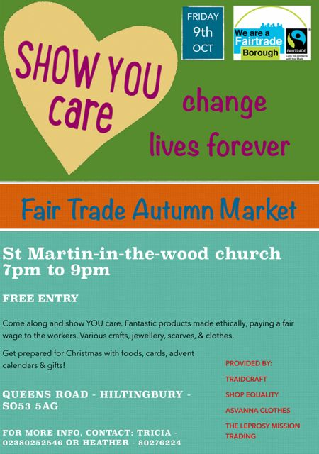 Fairtrade autumn market at  St. Martin in the Wood on 9th Oct 2015