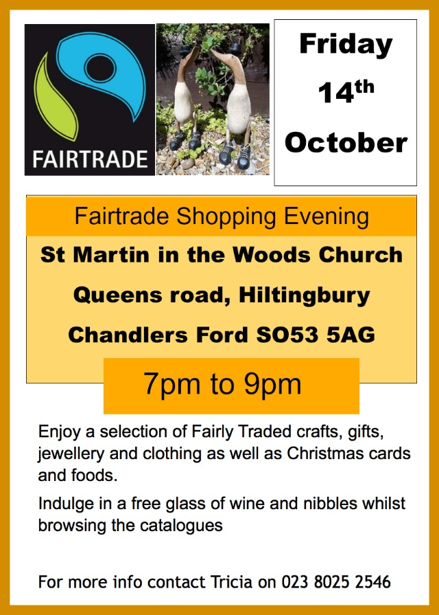 Fairtrade shopping evening St Martin in the Wood Church