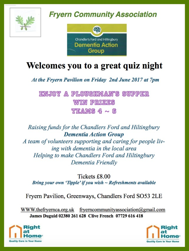 Fryern Community Association Quiz Night June 2017