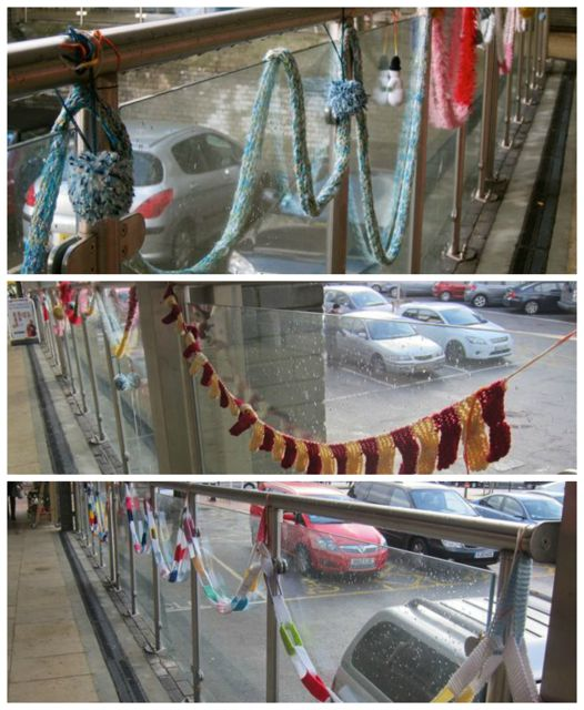 Heavenly Knitters brought festive spirit to Fryern Arcade in Chandler's Ford.