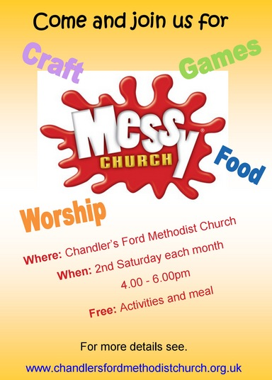 Messy Church at the Methodist Church on second Saturday of the month.