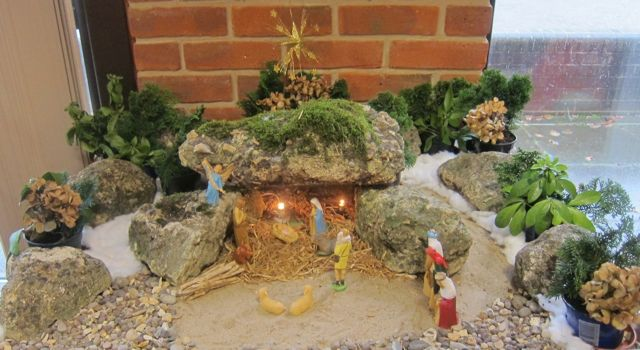 The Nativity scene at the Coffee Room in the Chandler's Ford Methodist Church.