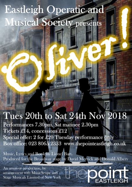 Oliver by Eastleigh Operatic and Musical Society (EOMS)