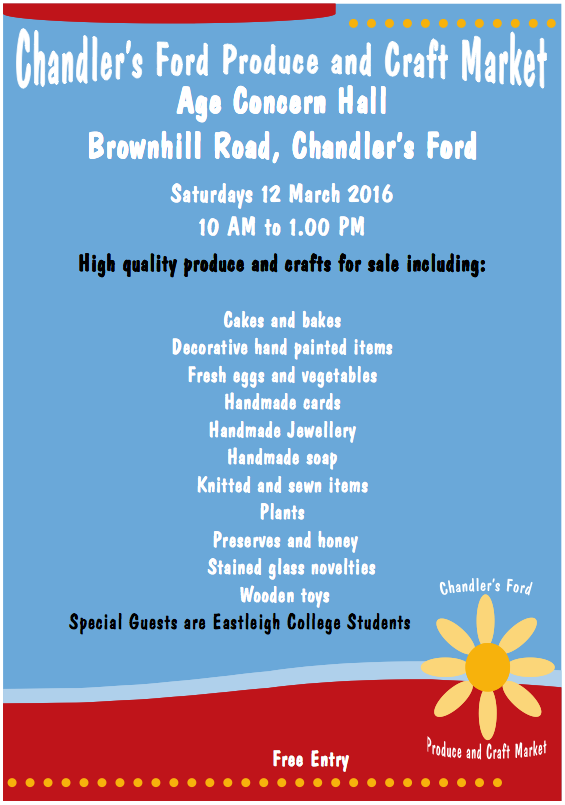 Produce and Craft Market March 2016 Chandler's Ford
