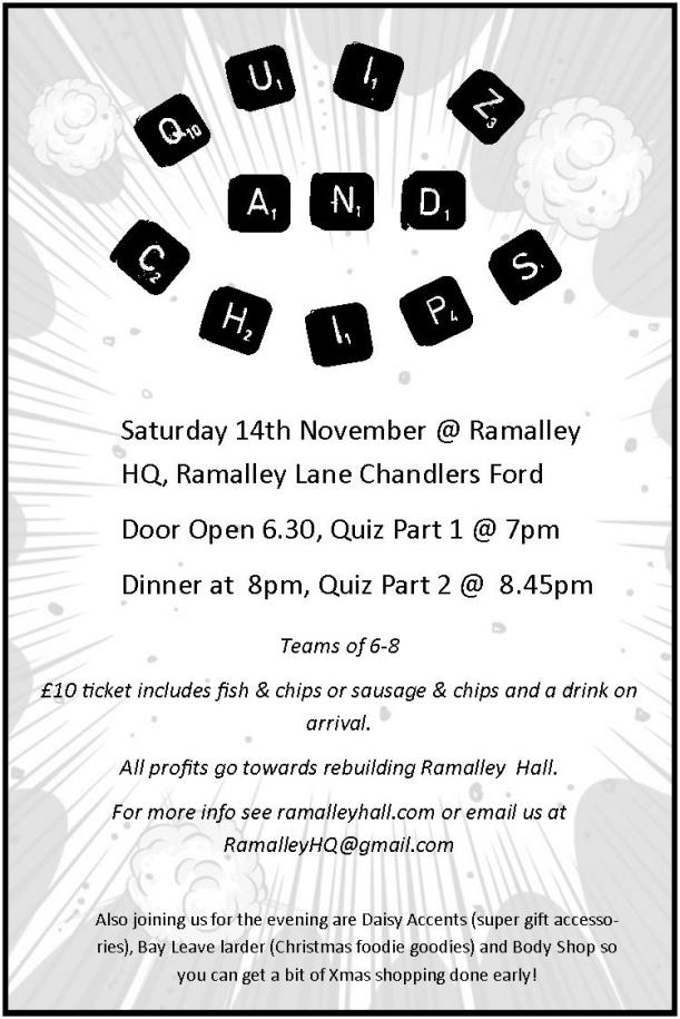 Ramalley Halll quiz-n-chips-flyer