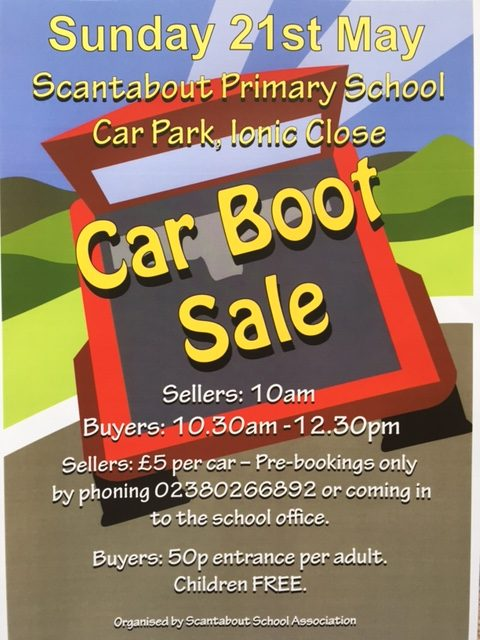 Scantabout Primary School car boot sale 2017