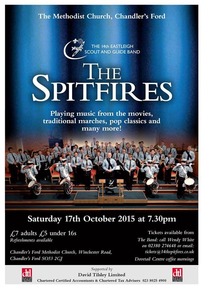 The Spitfires Saturday 17th October 2015 Chandler's Ford Methodist Church