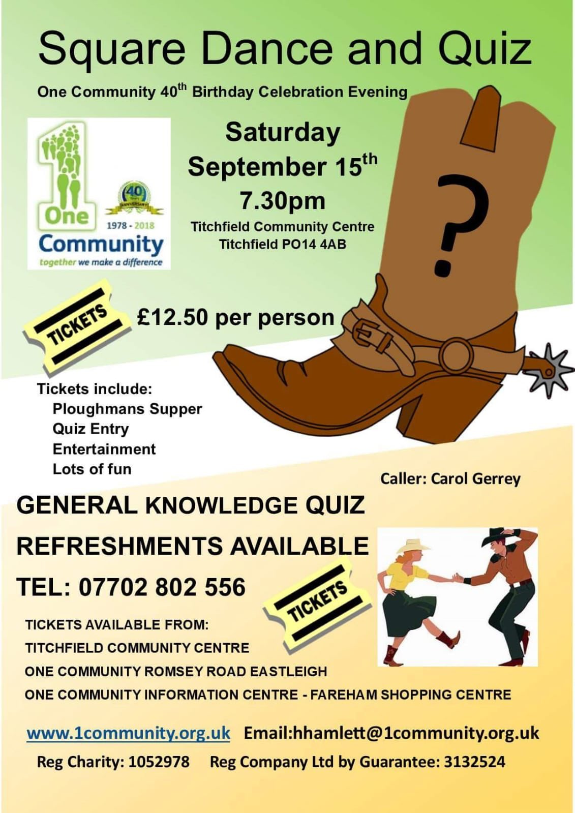 Square Dance and Quiz by One Community