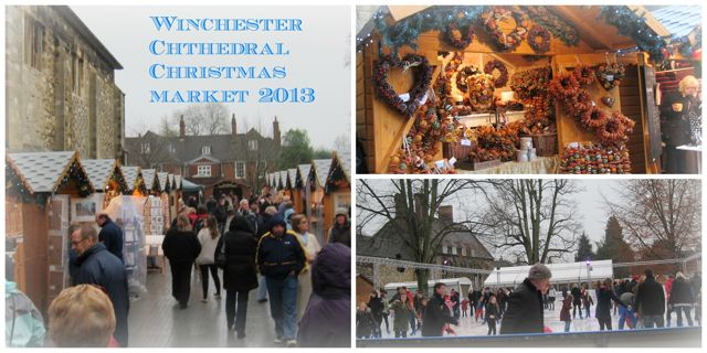 Winchester Cathedral Christmas Market: shops in pretty wooden chalets, open-air ice rink.