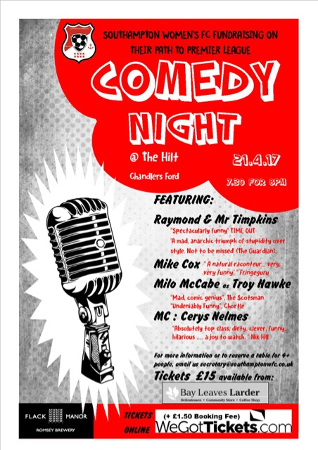 Comedy Night at the Hilt, 21st April 2017.
